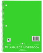 Assorted Colors 1 Subject 70 Sheet Notebook - Roaring Spring Wirebound