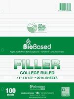 Filler Paper - Roaring Spring Environotes Sugarcane College Ruled 100 Sheet