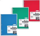 3 Subject Notebook - Mead Wirebound College Ruled 120 Sheet