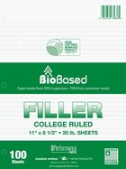 Filler Paper - Roaring Spring Environotes Sugarcane College Ruled 100 Sheet