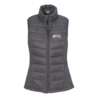 NCCC Ladies Down Packable Vest w/Bag DPewter