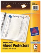Sheet Protector - Avery Clear 8.5X11 Standard Weight